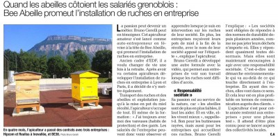 Article Dauphiné Libéré Bee Abeille